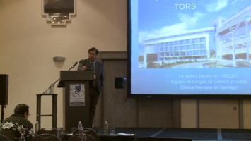 Cirugía TORS (robótica en cabeza y cuello) ( Dr Arturo Madrid Moyano - Clínica Alemana, Santiago, Chile )