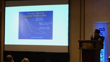 La evolución de la Sobrevida Global a 3 años en CPCNP con Nivolumab ( Dr Carlos Aliaga - Clínica ALIADA, Lima, Perú )