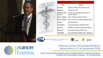 El cine como herramienta educativa para los cuidados paliativos. Experiencia Facultad de Medicina de la Universidad de Cartagena ( Dr. Haroldo Estrada - Universidad de Cartagena, Cartagena, Colombia )