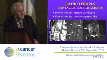 Indicaciones de la Radioterapia en Cuidados Paliativos. ( Dr. Mario Bruno - Presidente FESCAS )