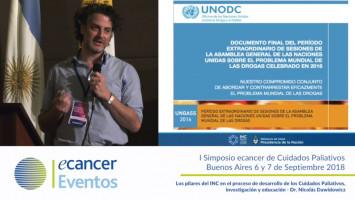 Los pilares del INC en el proceso de desarrollo de los Cuidados Paliativos. Investigación y educación. ( Dr. Nicolas Dawidowicz - Director del Programa de Cuidados Paliativos del INC )