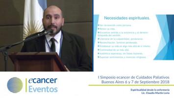Espiritualidad desde la enfermeria ( Lic. Claudio Loria - Sanatorio San Camilo, Buenos Aires, Argentina )