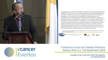 Cannabis: to be or not to be. That is the question. ( Dr. Haroldo Estrada - Universidad de Cartagena, Cartagena, Colombia )