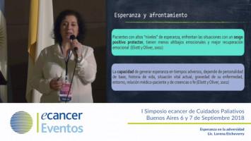 Esperanza en la adversidad ( Lic. Lorena Etcheverry - Hospital Nacional Dr. Baldomero Sommer Hospice Madre Teresa Buenos Aires, Argentina )