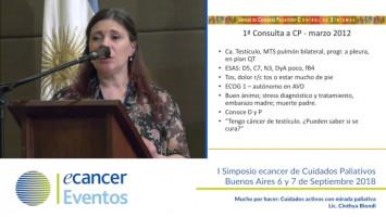 Mucho por hacer: Cuidados activos con mirada paliativa. ( Lic. Cinthya Biondi - Hospital E. Tornú, Argentina )