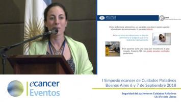 Seguridad del paciente en cuidados paliativos ( Lic. Victoria LLanos - Instituto Lanari, Argentina )
