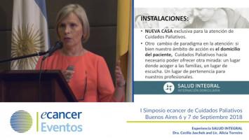 Experiencia SALUD INTEGRAL ( Dra. Cecilia Jashchek Y Lic. Alicia Torreiro - Salud Integral )