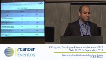 Papel de la radioterapia intraoperatoria en cáncer de mama. ( Dr. Badin Chahuán - Fundación Arturo López Pérez, Santiago, Chile. )