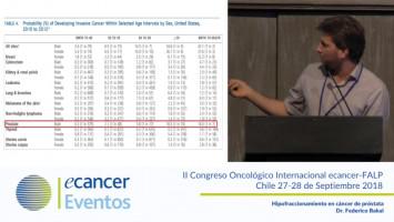 Hipofraccionamiento en cáncer de próstata ( Dr. Federico Bakal - Clínica IRAM, Santiago, Chile. )