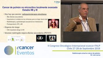 Radioterapia actual en cáncer de pulmón ( Dr. Luis Larrea - Hospitales NISA-VITHA, Valencia, España. )