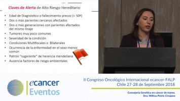 Consejería Genética en cáncer de mama. ( Dra. Militza Petric - Clínica Dávila - Hospital Sótero del Río, Santiago, Chile. )