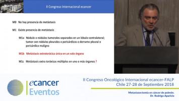 Metastasectomía en cáncer de pulmón. ( Dr. Rodrigo Aparicio - Clínica Santa María, Santiago, Chile. )