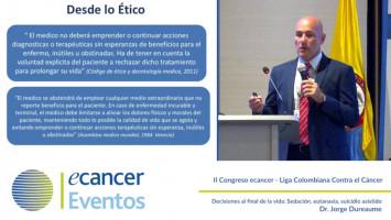 Decisiones al final de la vida: Sedación, eutanasia, suicidio asistido ( Dr, Jorge Dureaume - Sanatorio Güemes, Buenos Aires, Argentina )