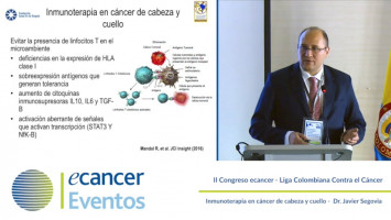 Inmunoterapia en cáncer de cabeza y cuello ( Dr. Javier Segovia - Fundación Santa Fé de Bogotá Bogotá, Colombia )
