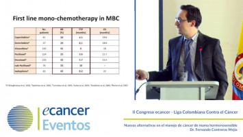 Nuevas alternativas en el manejo de cáncer de mama hormonosensible ( Dr. Fernando Contreras Mejía - Instituto Nacional de Cancerología Bogotá, Colombia )