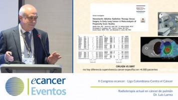 Radioterapia actual en cáncer de pulmón ( Dr. Luis Larrea - Hospitales NISA-VITHAS, Valencia, España )