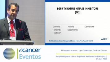 Terapia dirigida en cáncer de pulmón. Adelantos en EGFR y ALK ( Dr. Luis Ráez - Memorial Healthcare System, Hollywood, USA )