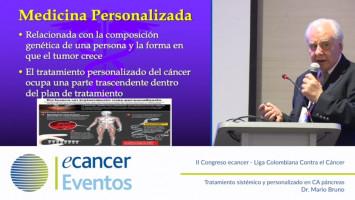 Tratamiento sistémico y personalizado en CA páncreas ( Prof. Mario Bruno - Federación de Sociedades de Cancerología de Sudamérica, Argentina )