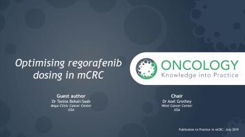 Optimising regorafenib dosing in mCRC ( Dr Axel Grothey and Dr Tanios Bekaii-Saab )