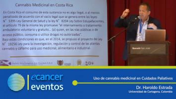 Uso de cannabis medicinal en Cuidados Paliativos. ( Dr. Haroldo Estrada - Universidad de Cartagena, Colombia )