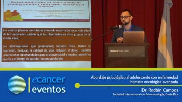 Abordaje psicológico al adolescente con enfermedad hemato oncológica avanzada. ( Dr. Rodbin Campos - Sociedad Internacional de Psicooncología, Costa Rica )