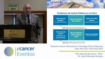 """Plan Nacional de Cáncer: """"Perú"""" ( Dr. Javier Manrique Hinojosa - Departamento de Promoción de la Salud y Prevención del Cáncer, Perú )"""