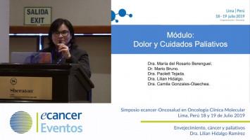 Envejecimiento, cáncer y paliativos. ( Dra. Lilian Hidalgo Ramírez - Totalcare Oncosalud Auna, Perú )