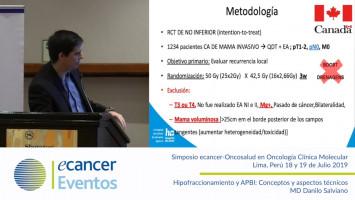 Hipofraccionamiento y APBI: Conceptos y aspectos técnicos. ( MD Danilo Salviano - Fundacao Pio XII, Hospital Sao Judas Tadeu, Barretos, Sao Paulo, Brasil )