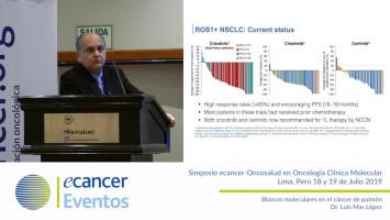 Blancos moleculares en el cáncer de pulmón ( Dr. Luis Mas López - Oncosalud Auna, Perú )