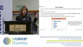 Iniciativas científicas para la prevención y diagnóstico temprano de cáncer colorrectal en América Latina. ( Dra. Mev Dominguez-Valentin - Institute for Cancer Research Oslo University Hospital, Noruega )