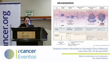 Blancos moleculares en el melanoma. ( Dra. Pamela Rebaza - Oncosalud Auna, Perú )