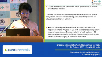 Diagnosis and staging of breast cancer ( Dr Geeta Kadayaprath - Max Healthcare, New Delhi, India )