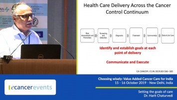 Setting the goals of care ( Dr Harit Chaturvedi - Max Institute Of Oncology, New Delhi, India )