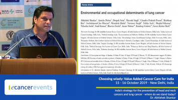 India's strategy for the prevention of head and neck cancers and lung cancer ( Dr Abhishek Shankar - Consultant Oncologist, AIIMS, New Delhi, India )