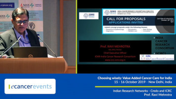 Indian Research Networks - Credo and ICRC ( Prof Ravi Mehrotra - ICMR National Institute of Cancer Prevention and Research, Noida, India )