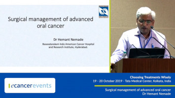 Surgical management of advanced oral cancer ( Dr Hemant Nemade - American Cancer Hospital & Research Institute, Hyderabad, India )