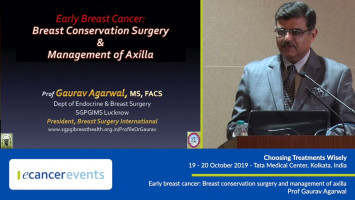 Early breast cancer: Breast conservation surgery and management of axilla ( Prof Gaurav Agarwal - SGPGIMS, Lucknow, India )