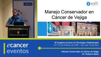 Manejo conservador en cáncer de vejiga. ( Dr. Federico Bakal - Clínica IRAM, Santiago, Chile )
