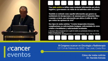Cómo dar malas noticias ( Dr. Haroldo Estrada - Universidad de Cartagena, Cartagena, Colombia )