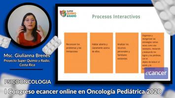 Intervencion en la familia del  paciente oncológico pediátrico ( Msc. Giulianna Brenes - Proyecto Super Quimio y Radio, Costa Rica )