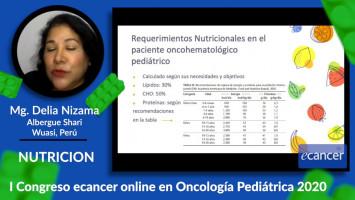 Nutrición en el paciente Onco-hemato pediátrico ( Mg. Delia Nizama - Hospital Guillermo Almenara, Perú )