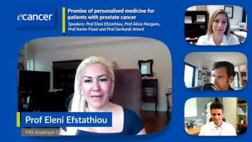 Promise of personalised medicine for patients with prostate cancer ( Prof Eleni Efstathiou, Prof Alicia Morgans, Prof Karim Fizazi and Prof Gerhardt Attard )