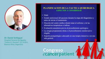 """Rol del cirujano en el moderno tratamiento del cáncer ( Dr. Daniel Schleguel Hospital General de Agudos """"Carlos G. Durand"""". G.C.A.B.A., Buenos Aires, Argentina )"""