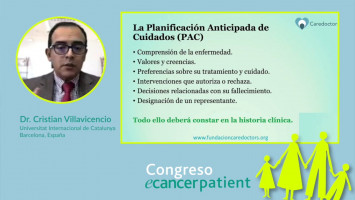 Planificación anticipada ( Dr. Cristian Villavicencio - Universitat Internacional de Catalunya, Barcelona, España )