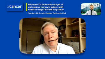 IMpower133: Exploratory analysis of  maintenance therapy in patients with  extensive-stage small-cell lung cancer ( Prof Martin Reck and Dr Antonio Passaro )