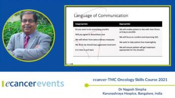 Communicating transition from curative to palliative care ( Dr Nagesh Simha - Karunashraya Hospice, Bangalore, India )