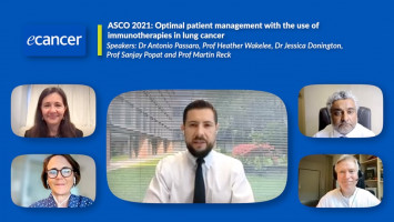 Optimal patient management with the use of immunotherapies in lung cancer ( Dr Antonio Passaro, Prof Heather Wakelee, Dr Jessica Donington, Prof Sanjay Popat and Prof Martin Reck )