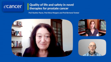 Quality of life and safety in novel therapies for prostate cancer ( Prof Heather Payne, Prof Alicia Morgans and Prof Bertrand Tombal )