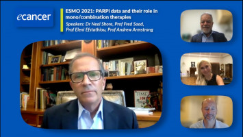 ESMO 2021: PARPi data and their role in mono/combination therapies ( Dr Neal Shore, Prof Fred Saad, Prof Eleni Efstathiou, Prof Andrew Armstrong )