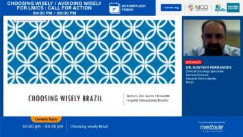 Choosing wisely Brazil ( Dr Gustavo Fernandes - Sirio Libanes Hospital, São Paulo do Potengi, Brazil )